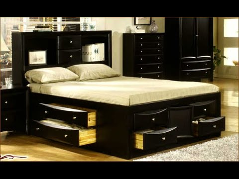 Wonderful King Bed With Drawers King Size Bed Frame With Drawers Ideas Youtube