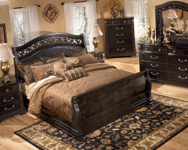 Wonderful King Size Bedroom Set Ashley Furniture Ashley Furniture Sleigh Bed Andreas King Bed