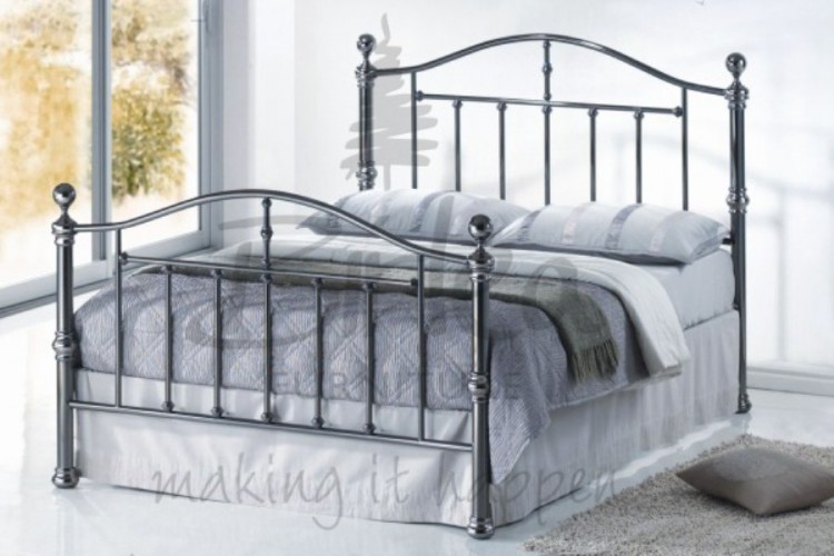 Wonderful King Size Metal Bed Birlea Victoria 5ft Kingsize Black Nickel Metal Bed Frame Birlea