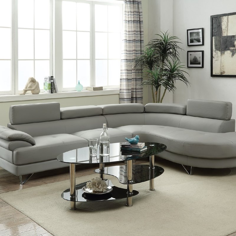 Wonderful L Couch With Recliner Reclining Sectionals Youll Love Wayfair
