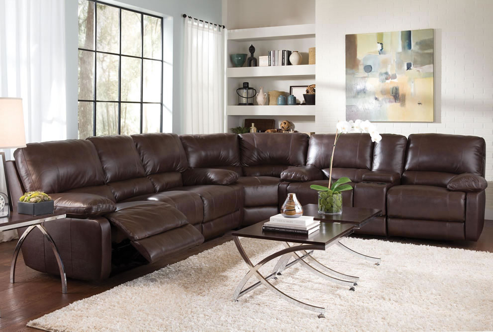 Wonderful Large Leather Sectional Couch Captivating Leather Sectional Sofas With Recliners With Leather
