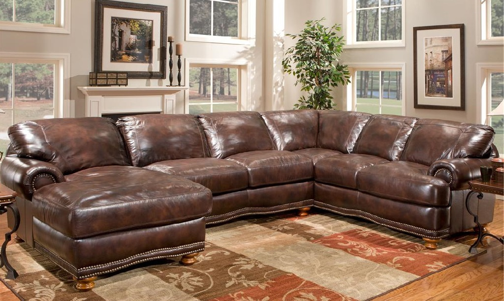 Wonderful Large Leather Sectional Couch Large Leather Sectional Sofas Sofamoe