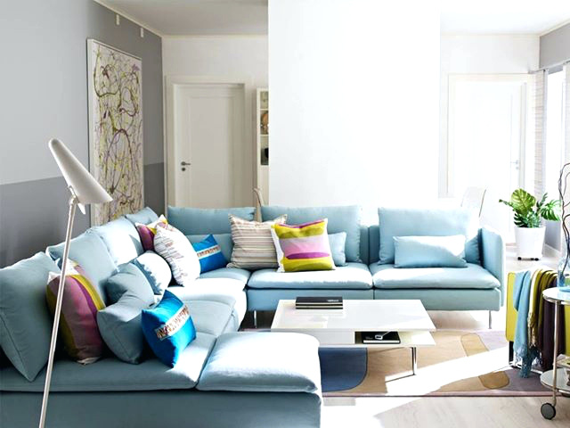 Wonderful Light Blue Sectional Sofa T4meritagehomes Page 34 2 Piece Reclining Sectional Purple
