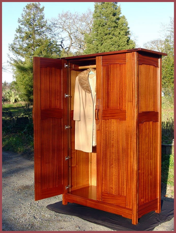Wonderful Mission Style Armoire Wardrobe Voorhees Craftsman Mission Oak Furniture Item Retired