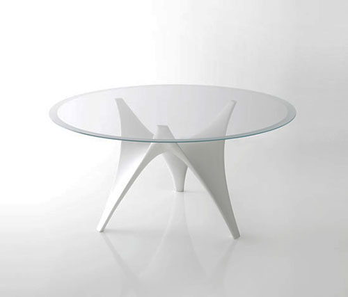 Wonderful Modern Glass Round Dining Table Modern Round Glass Dining Table Molteni Arc Designer Round