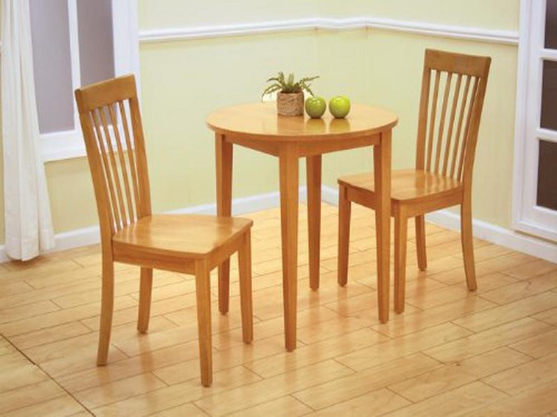 Wonderful Natural Wood Kitchen Chairs Craftman Dinette Decor With Small Round Natural Wooden Dining