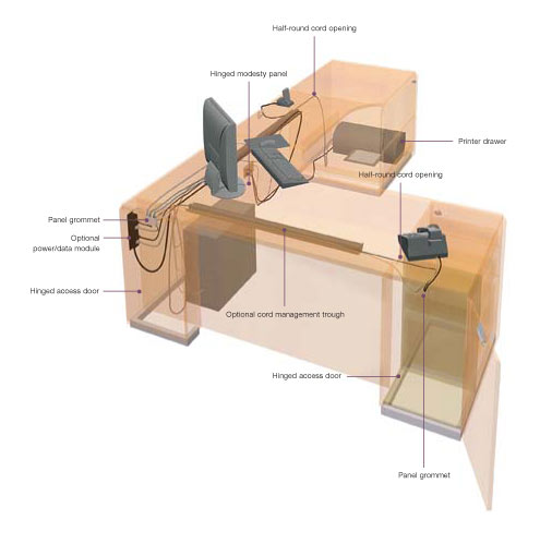 Wonderful Office Desk Design Plans Modern Reception Desk Plan With Large Furniture And Mainboard