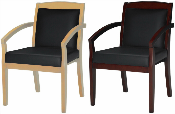 Wonderful Office Guest Chairs Mayline Leather And Wood Conference Chair Vsca