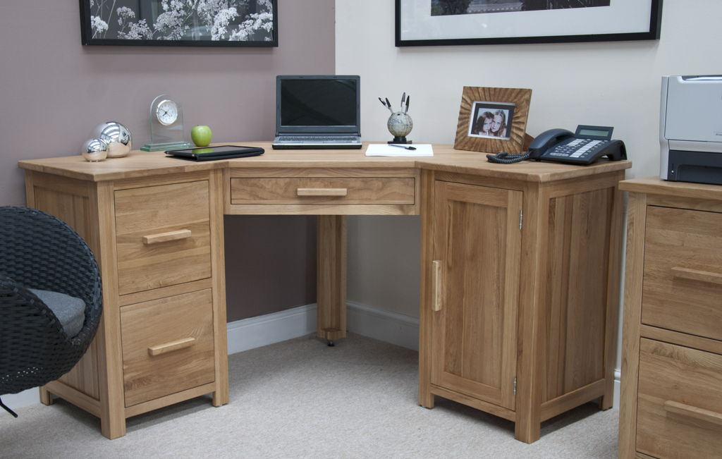 Wonderful Office Table With File Cabinet Furniture Simply Corner Office Table With Unfinished Wooden
