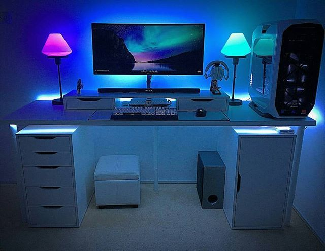Wonderful Pc Desk Setup Best 25 Desk Setup Ideas On Pinterest Computer Setup Pc Gaming