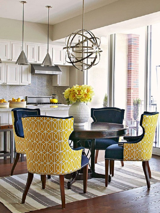 Wonderful Printed Upholstered Dining Chairs Yellow Upholstered Dining Chairs With Printed Designchaopao8