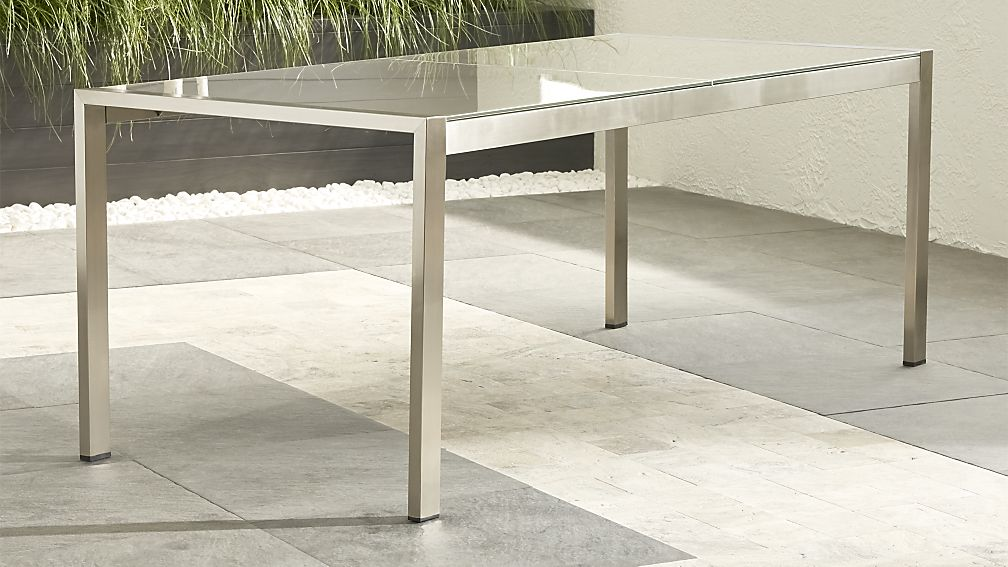 Wonderful Rectangle Dining Table Dune Taupe Painted Glass Dining Table Crate And Barrel