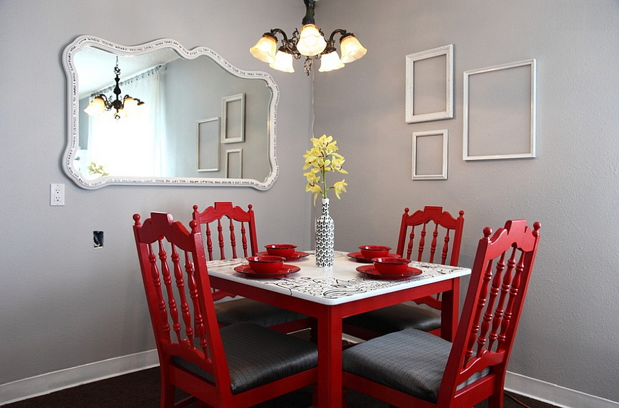 Wonderful Red Dining Room Chairs Red Dining Room Chair Pinterest Teki En Iyi 17 Dining Room Ideas