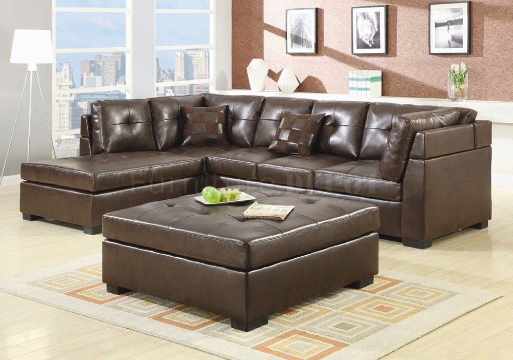 Wonderful Sectional Sofa With Ottoman Ottoman For Couch Fascinating 4 Leather Sectional With Chaise And