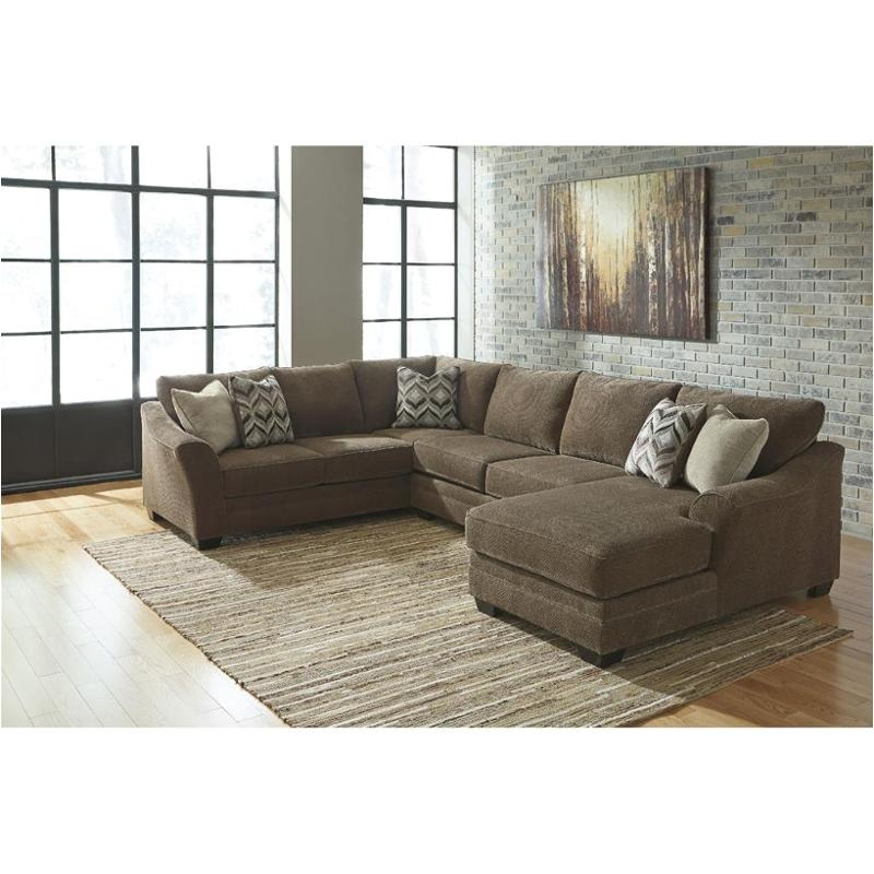 Wonderful Signature Ashley Furniture Sofa Zella Charcoal Right Facing Chaise Sectional Signature Design