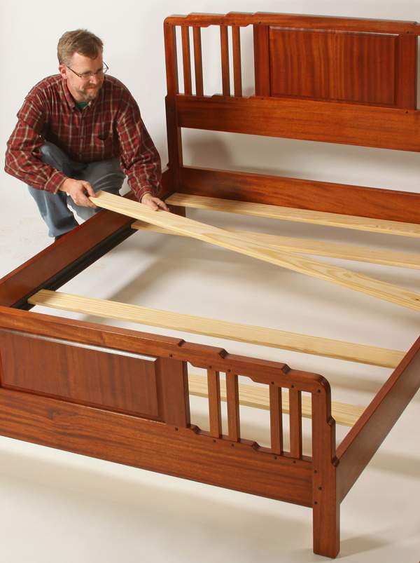 Wonderful Slat Bed Frame King Bedslatswoodworkers Journalhow To