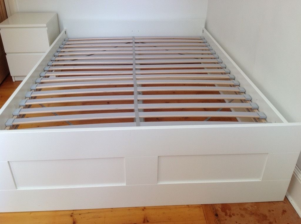 Wonderful Slatted Bed Base Double Ikea Brimnes Double Bed Frame Standard King And Slatted Bed Base