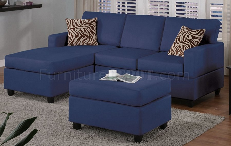 Wonderful Small Blue Sectional Sofa Navy Microfiber Plush Casual Small Sectional Sofa Wottoman