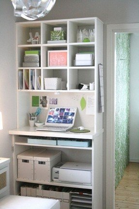 Wonderful Small Desk With Storage Small Secretary Desks For Small Spaces Foter