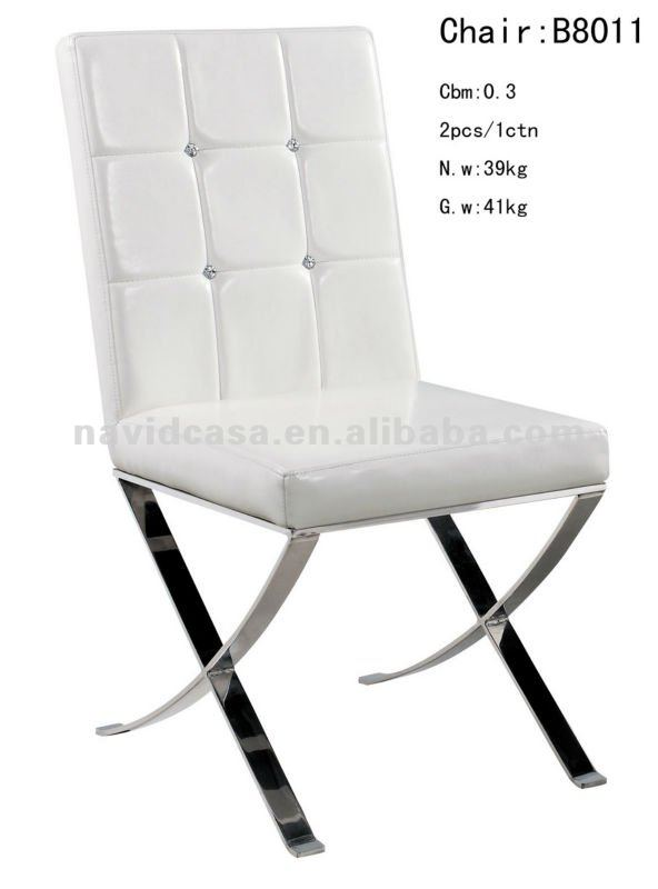 Wonderful Steel Dining Chairs B8011 White Pu Stainless Steel Dining Chair Buy White Pu Dining