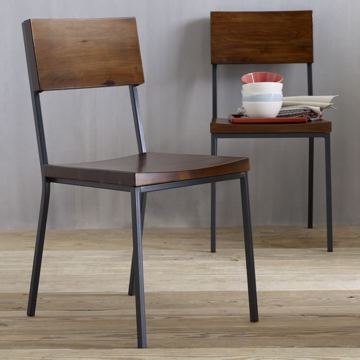 Wonderful Steel Dining Chairs Rustic Dining Chair West Elm