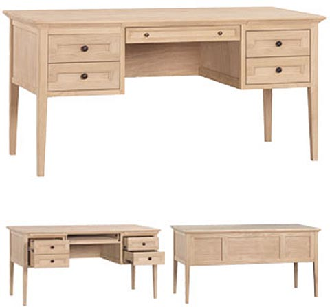 Wonderful Unfinished Furniture Desk Mckenzie 4 Drawer Desk Wr 2401auf Unfinished Furniture Outlet