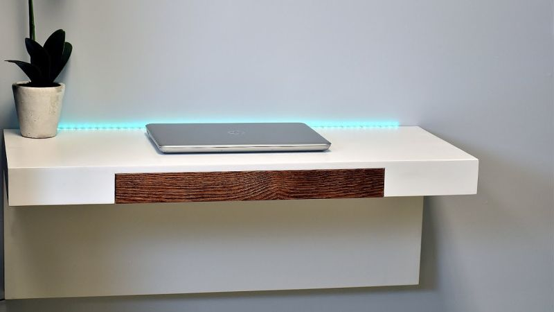 Wonderful Wall Mounted Desk Diy Wall Mounted Desk With A Secret Compartment To Hide Your Stuff