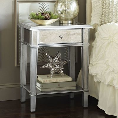 Wonderful White And Silver Nightstand Best 25 Silver Nightstand Ideas On Pinterest Classy Bedroom