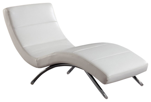 Wonderful White Leather Chaise Lounge R820 White Bonded Leather Lounge Chaise Chair Contemporary