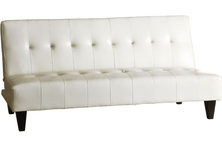 Wonderful White Leather Futon Sofa Futon Couch Sleeper White Rockaway White The Futon Shop