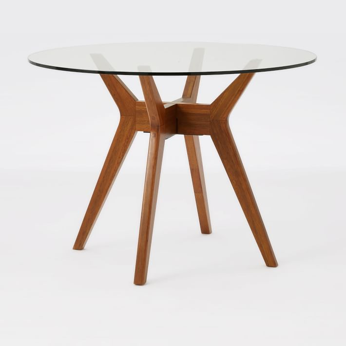 Wonderful Wood Dining Table Round Jensen Round Glass Dining Table West Elm