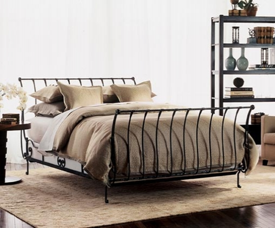 Wonderful Wrought Iron Bed Frame Determine The Age Of An Iron Bed Frames Queen Modern Wall